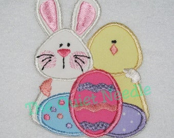 Easter Bunny Chick Eggs Iron On or Sew On Applique Patch Easter Eggs Patch Spring Applique Baby Kids Children Decal Embellishment Craft DIY