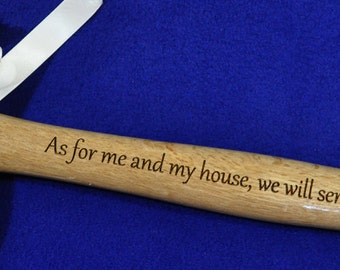 Gift For Minister ~ Christian Gift ~ Gift For Pastor ~ Gift For Clergy ~ Engraved Hammer ~ Church Worker Gift ~ Bible Verse Gift ~ Bible