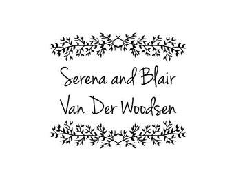 Embosser - Custom Embossing Seal - Name Embosser - Personalized Embosser - Wedding Embosser - Save the Date Embosser - Serena