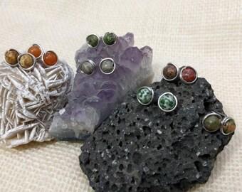 Gemstone Earrings, Wire Wrap Earrings
