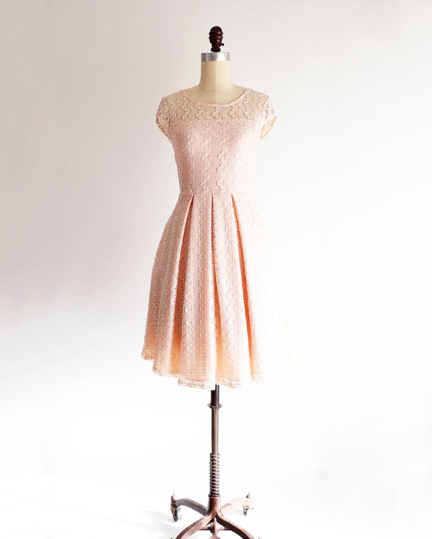 Gossamer petal light pink lace bridesmaid dress with cap zoom ombrellifo Images