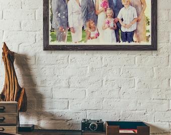 Custom Realistic Watercolour Family Portrait Painting - Printable Digital Art - Best Memories - Personalized Artwork - Christmas Gift