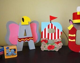 Dumbo Inspired Custom 8 inch paper mache letters