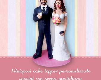 Custom cake topper figures Bride and groom wedding figurines Realistic cake topper Funny personalized wedding tops Anniversary gift Keepsake
