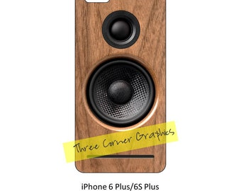 iPhone 6+ printable speaker case design for audiophiles, DIY print at home iPhone accessories for 6 Plus or 6S Plus