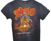 Vintage 80s 1984 DIO The Last in Line Heavy Metal Rock Concert Tour T Shirt RARE