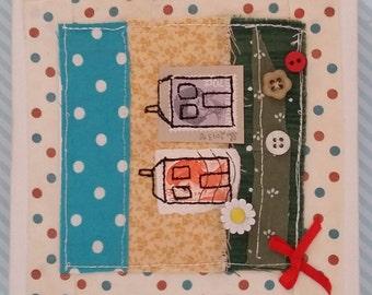 Sweet Houses mini canvas