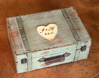 Wedding Card Box Trunk Wine Love Letter Ceremony Anniversary Rustic Shabby Chic Vintage Wedding Custom ( LARGE)
