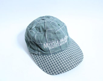 Myrtle Beach Plaid Baseball Hat