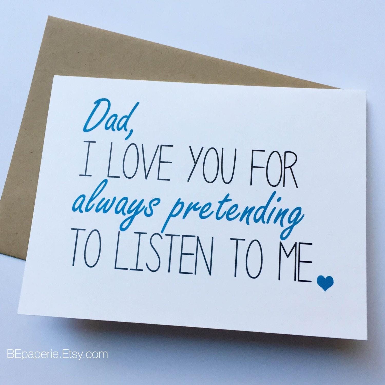 Dad Card Dad from Daughter Dad Birthday Card