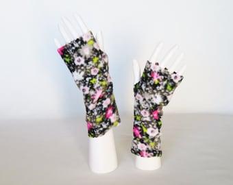Fleece Fingerless Gloves – Texting Gloves, Driving Gloves, Hand Warmers, Fingerless Mittens, Gloves for Disabled, Adaptive