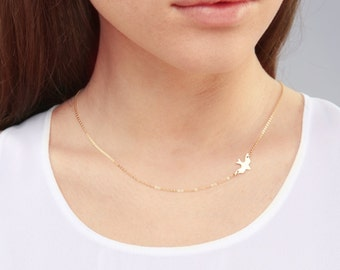 Gold Bird Necklace, Dove Necklace, Bird Necklace, GOLD, ROSEGOLD, SILVER, Bridesmaid Jewelry