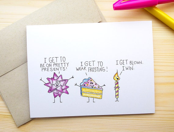 Funny Birthday Card for Him Dirty Birthday Card by OkSillyInk