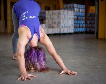 How's My Downdog?™ Yoga Tanks - Purple