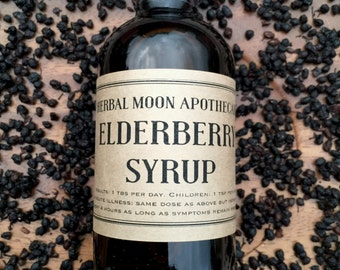 Organic ELDERBERRY SYRUP • 100% ORGANIC herbal remedy for cold and flu