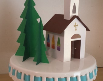 Paper Church and Trees