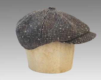 Classic Bakerboy Paperboy Newsboy Cap Hat Retro Vintage Harris Tweed Bespoke Peaky Blinders Gatsby Large Any Size XL Custom Made