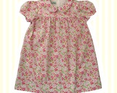 Girl's Liberty Print Peter Pan Smock Dress | Baby to 6 Years | D'Anjo