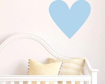 Large Heart Wall Decal - Heart Wall Decal - Heart Vinyl Decal - Baby Girls Room - Heart Wall Art - Teen Heart Decal