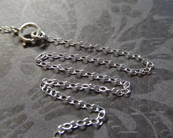 15% Off Sale..1 5 10 pc,, 16 17 or 18 in, Sterling Silver Finished Chain - Round CABLE CHAIN, 1.5 mm, Finished Necklace, d68.d hp wf