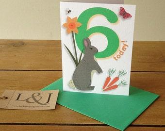 Sixth birthday, 6th birthday card, kids birthday, 6 years old, 6 birthday, 6 year old birthday, kids birthday card, niece birthday, nephew