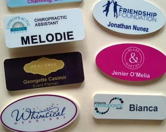 Personalized Magnetic Name Tags with your Logo and Names.
