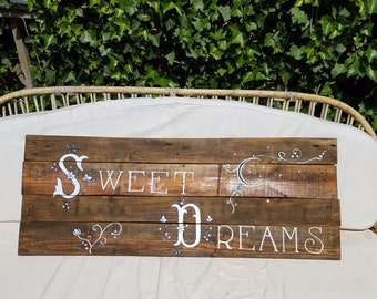 "Rustic ""Sweet Dreams"" Bedroom or Nursery Pallet Wall Decor"