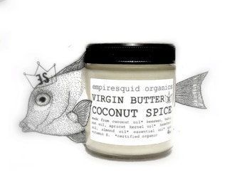 Coconut Spice Organic Body Butter - Coconut Body Butter - Natural Body Butter - Virgin Butter Organic Body Lotion - Organic Lotion