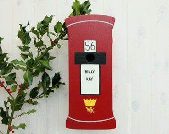 Post Box Personalised Bird Box / Hand-made Birdhouse / Garden Gift / Postal Gift