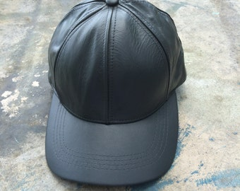 Leather Baseball Cap, Unisex Hat, Cuir Chapeau, Street Style Fall Accessories
