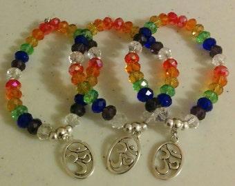 Swarovski (leaded glass) Chakra Bracelets