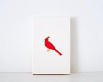 CARDINALS - Ivory St. Louis Cardinals PAINTING - Red Cardinal Art - St. Louis Cardinals Fan Gift - StL Cardinal Gear - Red Cardinal Print