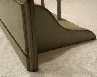 Long Green Wooden Shelf, Shabby Green Shelf, Rustic Shelf, Upcycled  Sage Green Shelf, Farmhouse, Home Decor