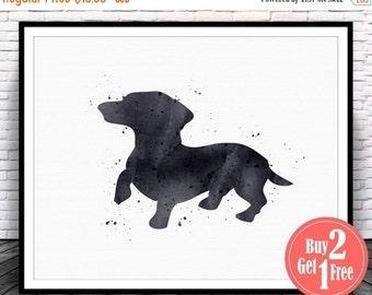 BIG SALE: Dachshund art print, dachshund watercolor, Dachshund print, dachshund art, dachshund wall art, dachshund painting, dachshund Illus