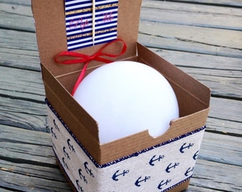 Nautical Stripes Balloon Pop Kit for Bridesmaid/Maid of Honor Proposal Gift