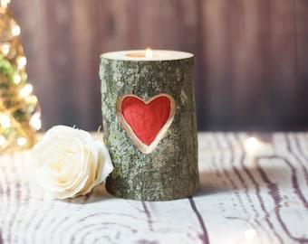 Wedding Candle, Wedding Centerpiece, Wedding Table Decor, Rustic Wedding, Barn Wedding, Woodland Wedding, Country Wedding, Log Candle