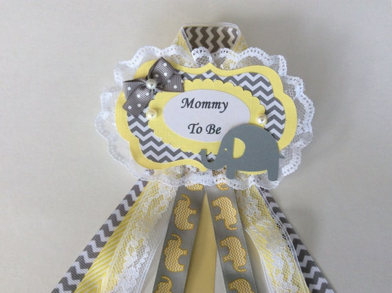 baby shower corsage neutral baby shower corsage neutral elephant baby