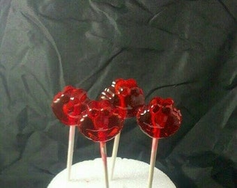 12 Elmo shaped  Lollipops