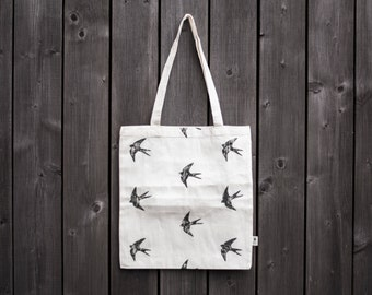 Swallow Print - Fair trade Cotton Bag