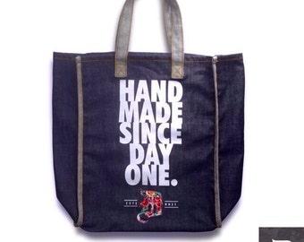 "DCollective ""Hand Made"" Raw Denim Shoulder Bag"