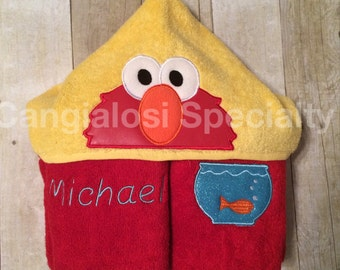 Sesame Street Inspired Hooded Towel(All Characters Available)