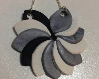 Ninja - Handmade Polymer Clay Pendant Necklace