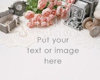 Styled Stock Photography / Desktop Styled  / Background Photo / Graphic Design Background / Vintage / Instand Download / StockStyle-650