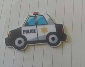 Police car resin needle minders  magnet