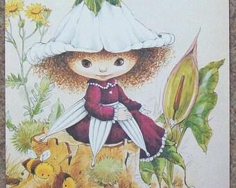 "Vintage Nursery Print ""Victoria Plum"" by Angela Rippon"