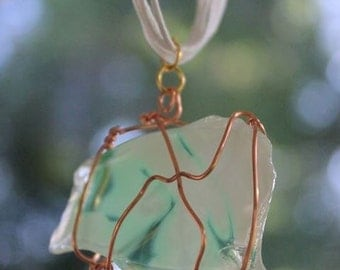 HANDMADE art glass necklace