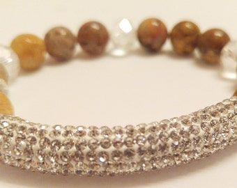 Earth Tone Beaded Bracelet