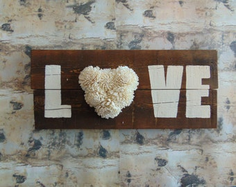LOVE Sola Wood Flower Sign