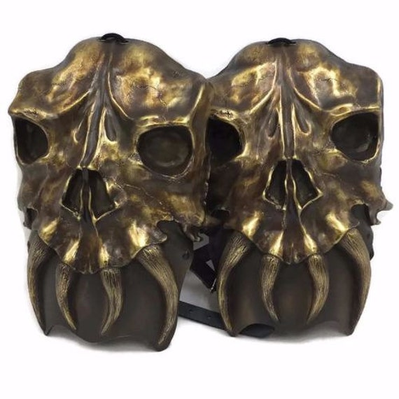 Larp Armor Osseus skull shoulders, pauldrons, spalders, spaulders, SCA, LRP, Theatrical, Cosplay