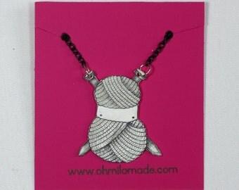 Knitting Ninja Necklace